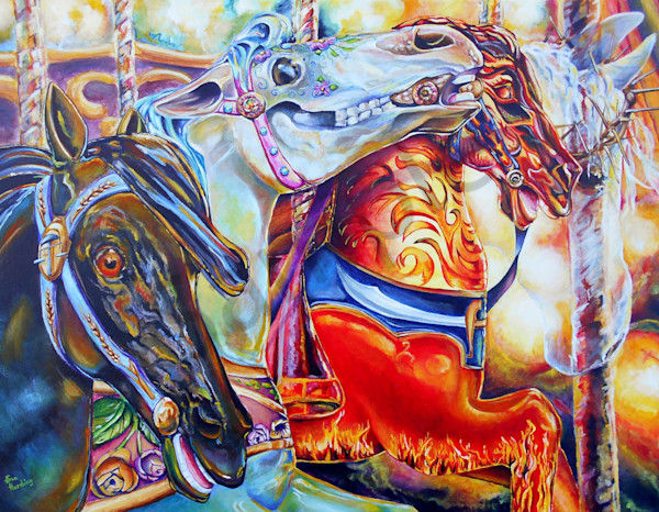 """""""Riding Wrath"""" by Indiana Artist Gina Harding 