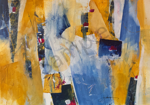 """""""Blue and Gold 1"""" by New Hampshire Artist Judy Johnson 