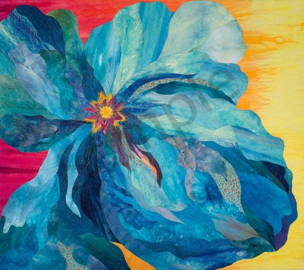 Stroke Of Blue Art | Barbara Olson Fiberarts