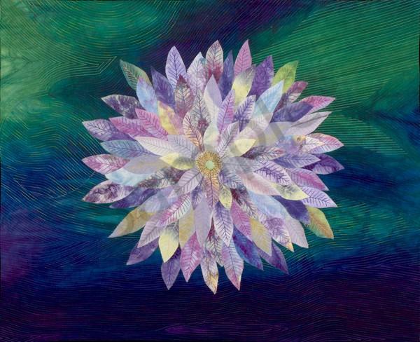 Night Daisy Art | Barbara Olson Fiberarts