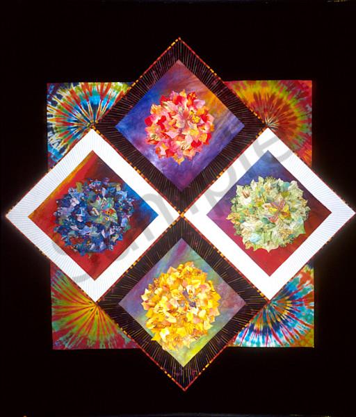 Prismatic Flowers Art | Barbara Olson Fiberarts