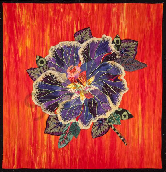 Hibiscus Art | Barbara Olson Fiberarts