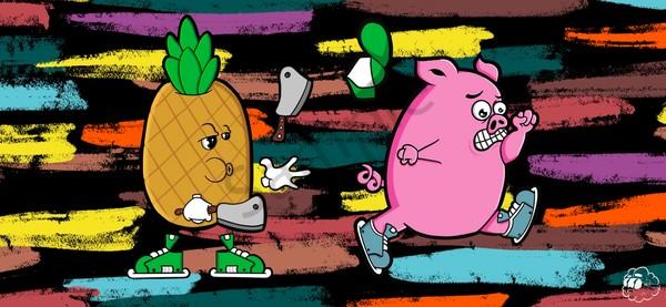 Run Piggy Run Art | Art by Nabes