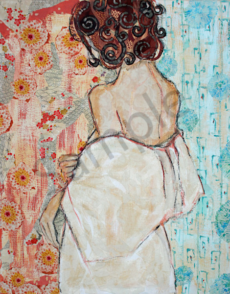 Sharon Tesser print from the original textile mosaic titled Sheer Pleasure