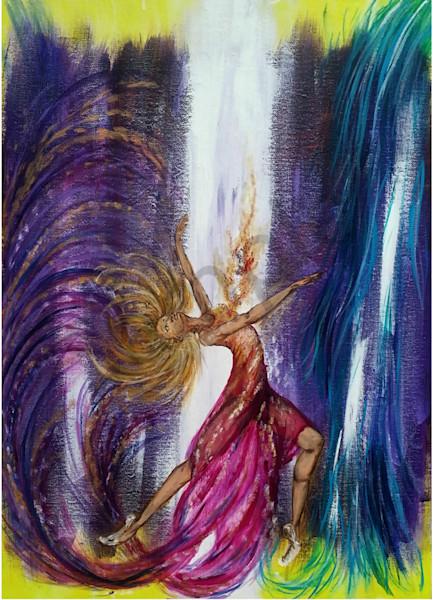 Dance Of Abandonment by Missouri Prophetic Artist Megan Kasper | Prophetics Gallery
