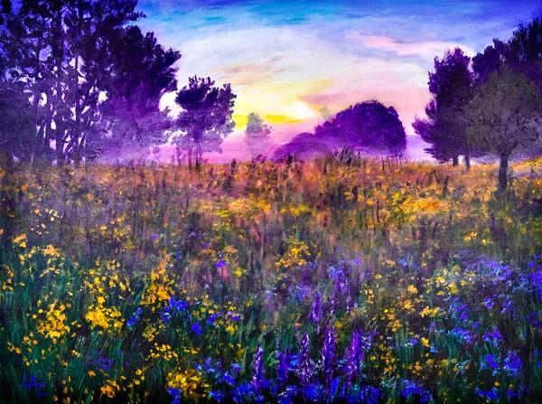 Meadow In A Mist Art | Lee Ann Zirbes ARTIST
