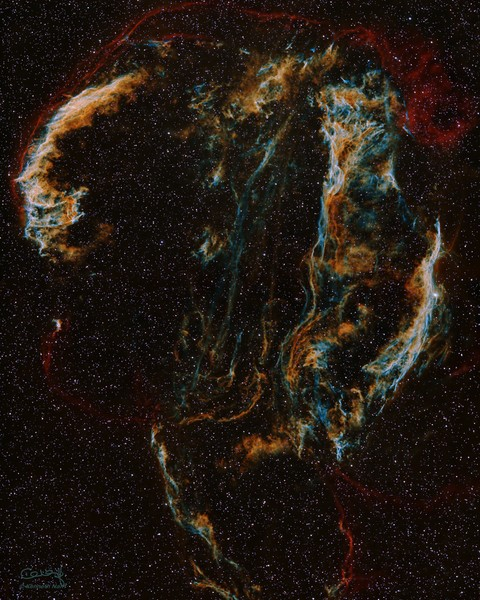 Veil Nebula Art | Dark Sky Images