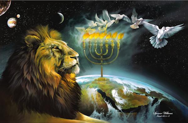 """Arise Shine - Menorah"" by Tennessee Prophetic Artist Spencer Williams | Prophetics Gallery"