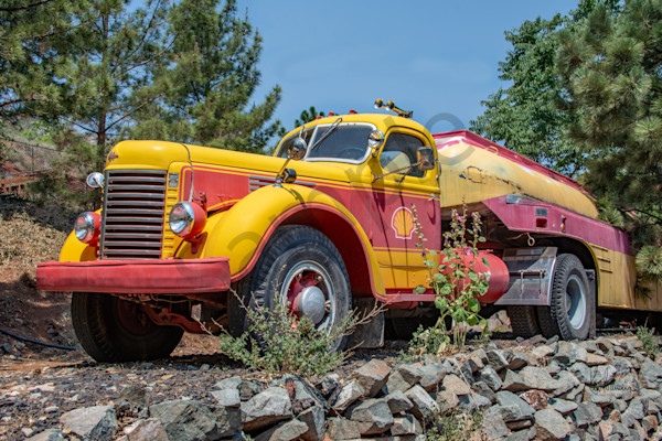 Vintage Gas Truck Photography Art   Sonoma Fine Photography