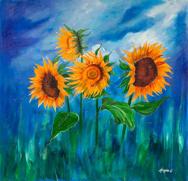 """Sunflowers"" by German Prophetic Artist Angela Günther | Prophetics Gallery"