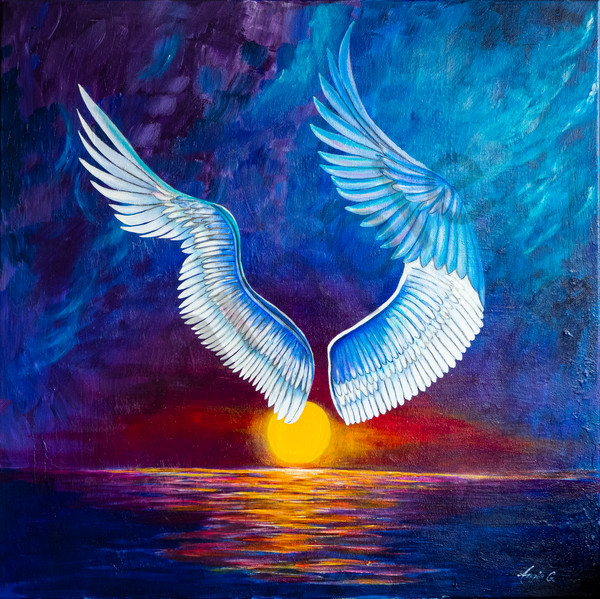 """""""Under Your Wings"""" by German Artist Angela Günther 