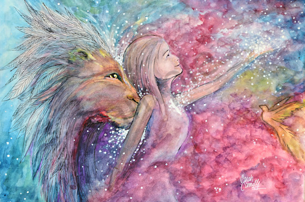 """""""The Lion Kiss"""" by South Carolina Prophetic Artist Sarah Camille Soltani Icely   Prophetics Gallery"""