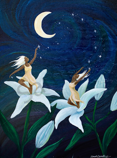"""""""Night Lillies"""" by South Carolina Prophetic Artist Sarah Camille Soltani Icely 