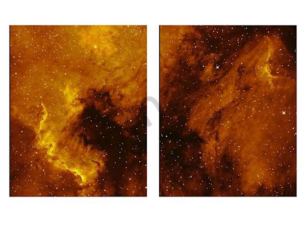North America & Pelican Nebulae Diptych Art   Dark Sky Images