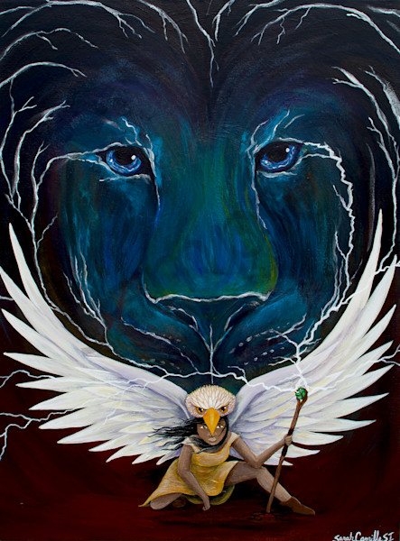 """""""Light Warrior"""" by South Carolina Prophetic Artist Sarah Camille Soltani Icely 
