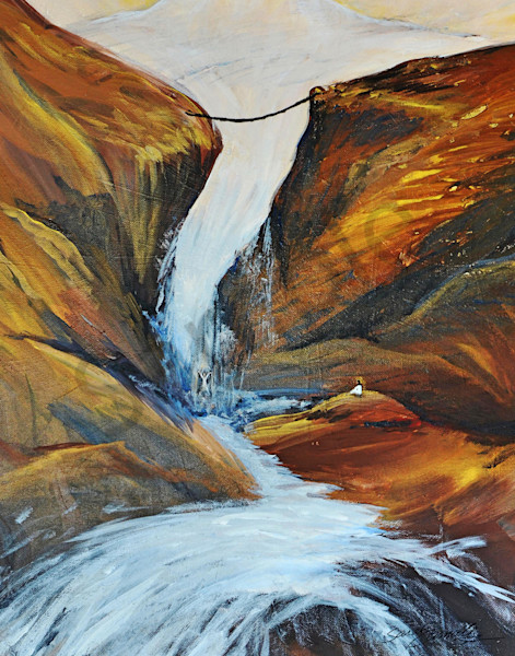 """""""Into The River"""" by South Carolina Prophetic Artist Sarah Camille Soltani Icely 