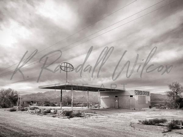 Abandoned Gas Station Art | K. Randall Wilcox Fine Art