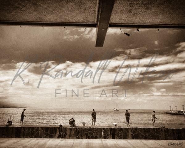 Fishing Kailua Bay Art | K. Randall Wilcox Fine Art