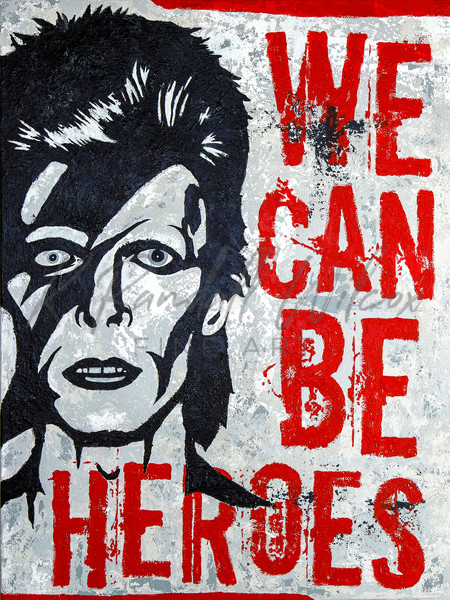 Bowie We Can Be Heroes... Art | K. Randall Wilcox Fine Art