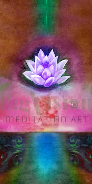 Lotus 002 5 Magenta Art | Big Vision Art + Design
