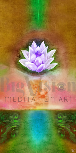 Lotus 002 5 Amber Art | Big Vision Art + Design
