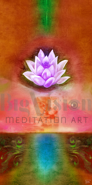 Lotus 002 5 Cherry Art | Big Vision Art + Design