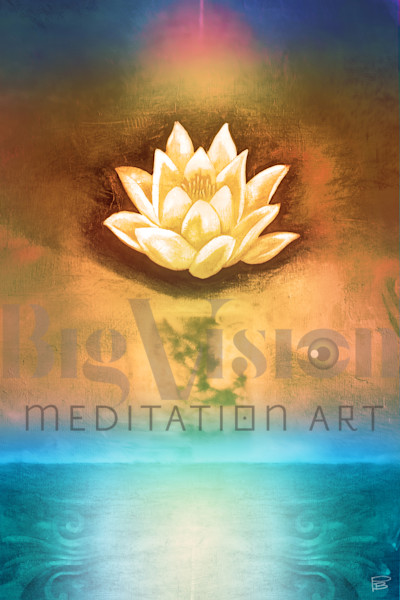 Lotus 003 2 Peach Art | Big Vision Art + Design