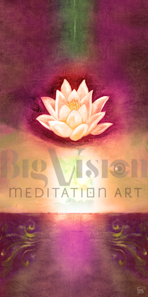 Lotus 002 59 Cherry Art | Big Vision Art + Design