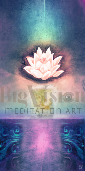 Lotus 002 567 Blue Art | Big Vision Art + Design