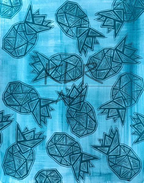 2020 Pineapple 16x20 Print  2 Art | KLR ART
