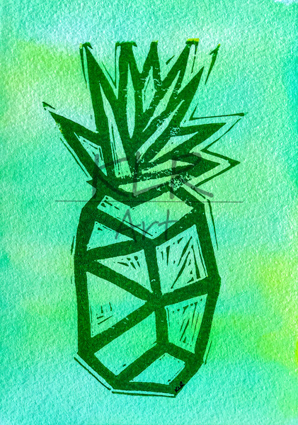 2020 Pineapple 5x7 Print 1 Art | KLR ART