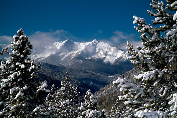 Mountain Light Images, storm, snow, blue sky, peaks, clouds, winter