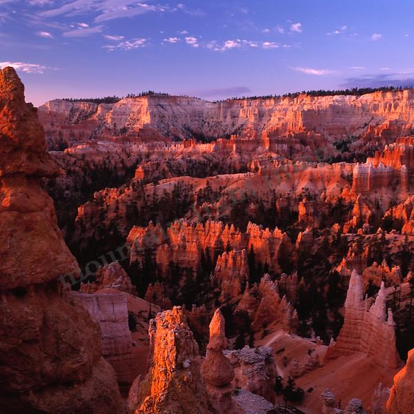 Mountain Light Images, Bryce Canyon Sunrise. Redrocks, utah, vivid colors, landscapes