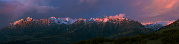 Mountain Light Images, raggeds Wilderness, sunset, alpen glow,  kebler pass, fall, mountains, peaks