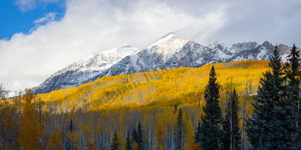 Mountain Light Images, fall aspen color peak snow peaks gold kebler pass aspen crested butte