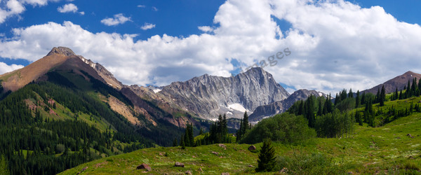 mountain light images 14er capital peak and valley near snowmass colorado in summer