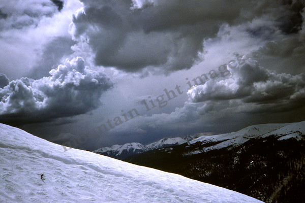 mountain light images a spring storm over the palavacini run at arapahoe basin sky says go home lightning coming
