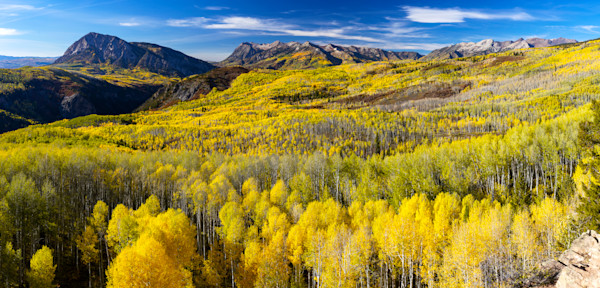 mountain light images fall peak on kebler pass west of crested butte and south of aspen colorado. big peaks and a big panoramic view with the raggeds range in the distance
