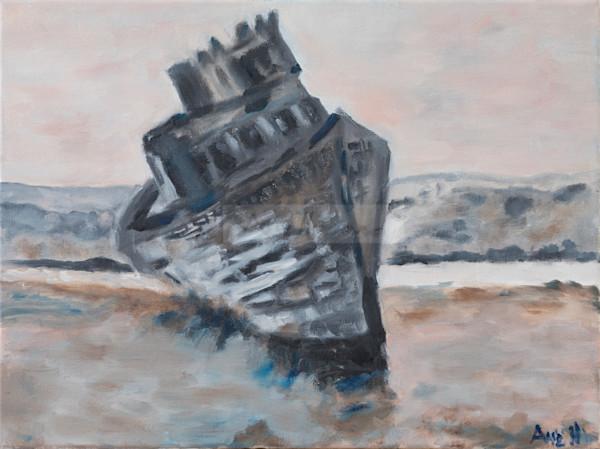 Sunken Ship At Point Reyes Art | Fine Art by Ane