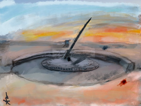 Sundial at the beach fine art print