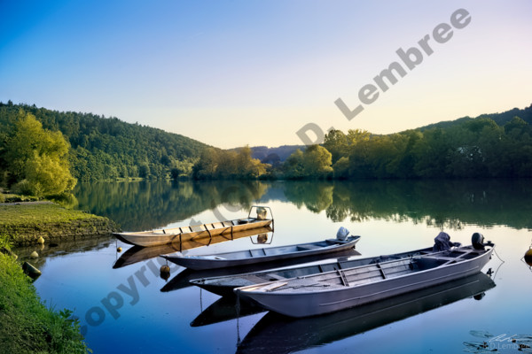 river main Germany summer evening water boats landscape