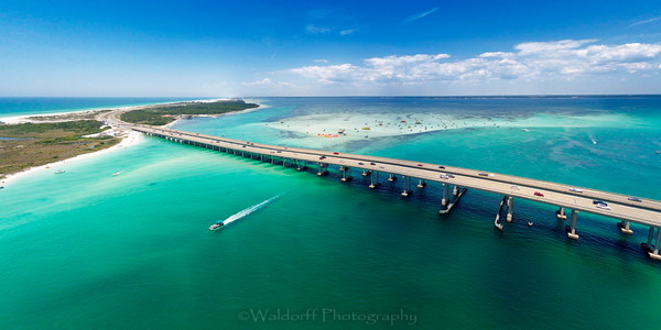Destin Bridge- Fine Art Prints on Canvas, Paper, Metal, & More | Waldorff Photography