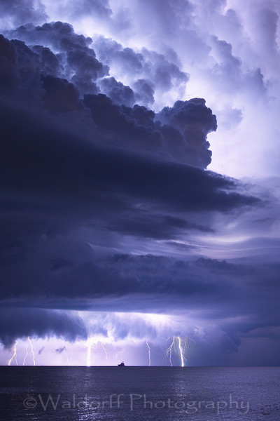 Beautiful summer storms near Navarre Beach along the Emerald Coast of Florida | Fine Art Prints on Canvas, Paper, Metal, & More | Waldorff Photography