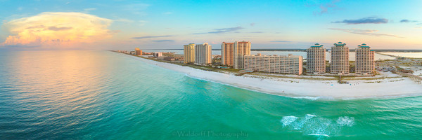 Aerial View of Navarre Beach #2 | Navarre Beach, Florida | Fine Art Landscape Photography on Canvas, Paper, Metal | Photography by Jeff Waldorff