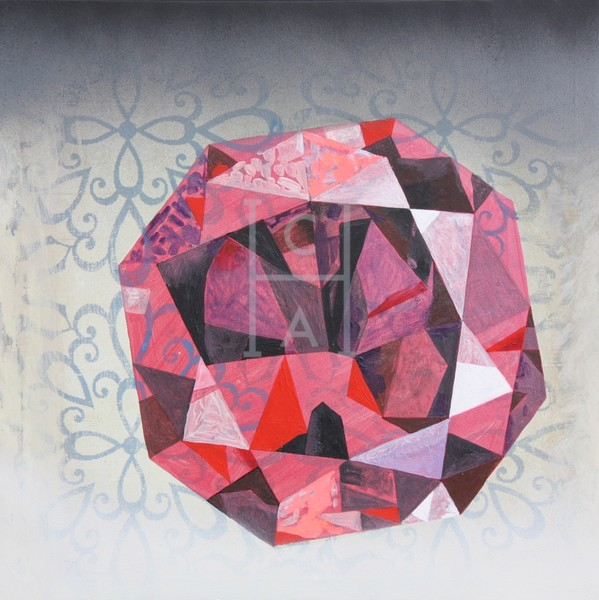 'Kumar' Octagon Ember Ruby by S.P. High Quality Giclee Print Art, Cool Art House