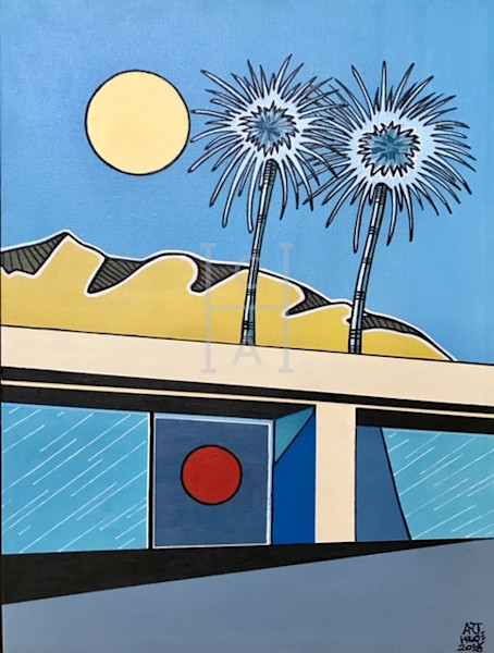 Palm Springs Painting by Arthur High Quality Giclee Print Art, Cool Art House