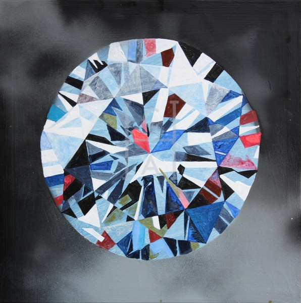 'Alaz' Blue Diamond Art | Cool Art House - online art gallery with hip emerging artists. Collect cool art you can view on your own wall before you invest!