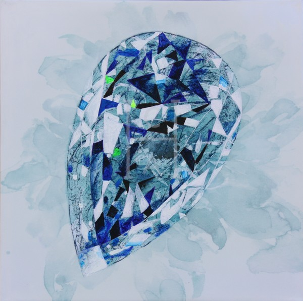 Gabija Cross Cut Pear Sapphire Art | Cool Art House - online art gallery with hip emerging artists. Collect cool art you can view on your own wall before you invest!