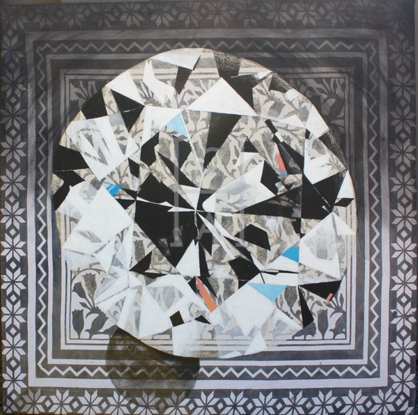 'Mahuika' Round Cut Diamond Art | Cool Art House - online art gallery with hip emerging artists. Collect cool art you can view on your own wall before you invest!