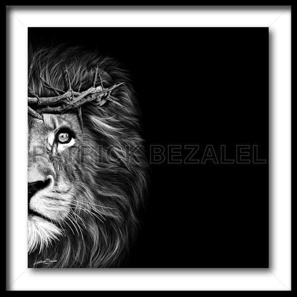 Crown Of Thorns - Lion (Fine Art Print With Frame) - Prices in US$